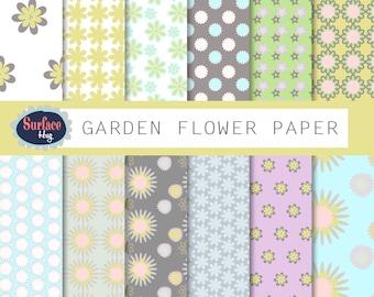 FLORAL DIGITAL PAPER Floral background Scrapbook papers Digital scrapbook Floral pattern Floral download Digital paper pack Flower digital