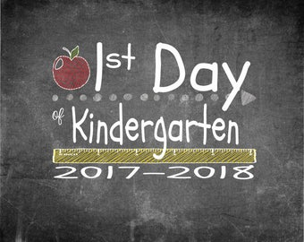 First & Last Day of Kindergarten Print 10x8
