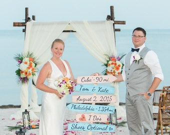 Wedding Beach Sign, Best Day Ever, I Do's Shoes Optional Signage, Destination Wedding Gift, Rustic Beach Wedding Decor