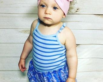 Baby Pink Headwrap- Pink Headband; Pink Bow; Big Bow Headwrap; Headwrap; Mommy and Me Headbands; Matching Headbands; Toddler Headband; Bows