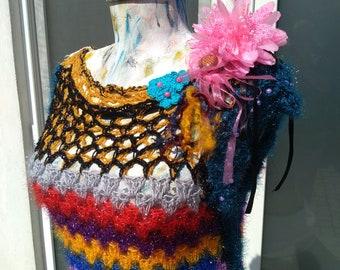 Unique crocheted dress summer granny square