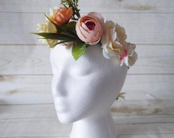 Flower Crown, Wedding Flower Crown, Flower girl crown,Flower girl headpiece, Flower Crown, Flower headpiece,Wedding hair accessory