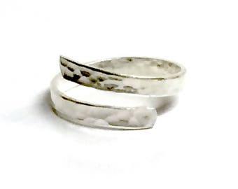 Hammered Finish Adjustable Ring