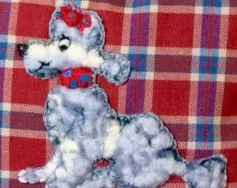 Vintage Style Dog, Poodle Cushion 1950s Style
