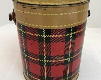 The Skotch Kaddy by Hamilton Red Plaid Round Cooler