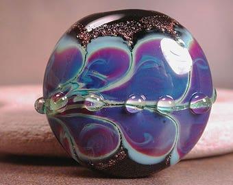 Lampwork Glass Focal Bead, Purple Lampwork Focal, Art Glass, Divine Spark Designs, SRA