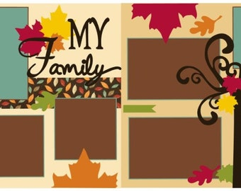 """Scrapbook 2 Page Layout """"My Family"""""""