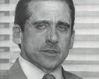 "Steve Carell ""Michael Scott"" Drawing Print"