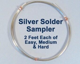 Silver Solder Sampler - 2 Feet Each
