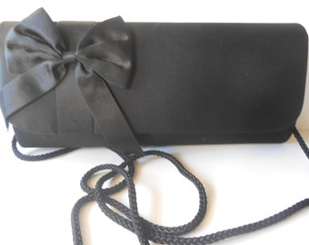Black Evening Bag, Black Clutch Bag, Vintage Black Purse, Clutch Handbag,  Black Handbag, Black Evening Purse, Glamorous Purse,  EB-0544
