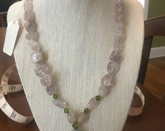 Quartz and Crystal Necklace