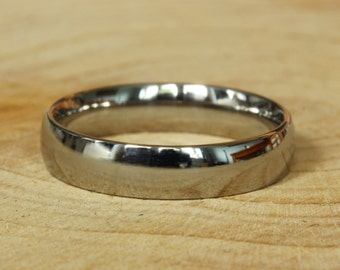 4mm Wide Comfort Fit / Court Shape Titanium Plain band Wedding Ring