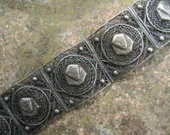 vintage sterling egyptian revival bracelet