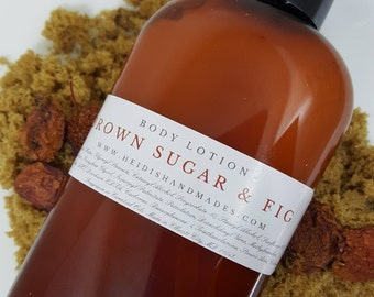 Brown Sugar and Fig Lotion - Brown Sugar Fig Body Lotion - Brown Sugar Fig Hand and Body Lotion