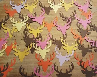 Deer Head Confetti, Scrapbooking, Card Making, Wedding Decorations, Wedding Shower, Rustic, Vintage, Skulls