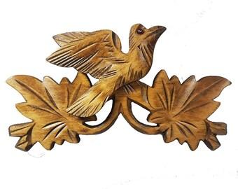 Light Brown Wooden Rooftop For Cuckoo Clock
