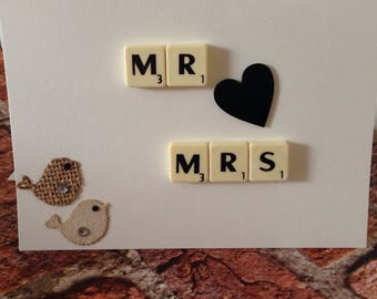 Wedding Card - Handmade - Mr & Mrs Card - Wedding - Special Day