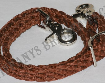 Wither Strap Chocolate Brown horse tack braided horse tack paracord horse tack