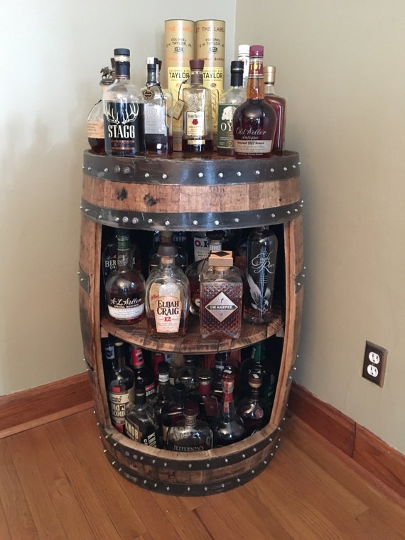 Bourbon Barrel Display Case Jim Beam Makers Mark Wild