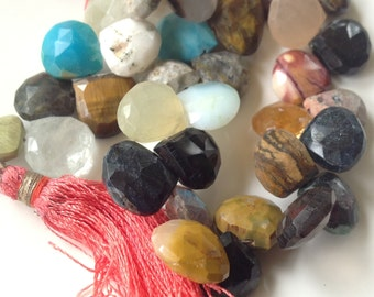 Assorted Faceted Gemstone Briolettes