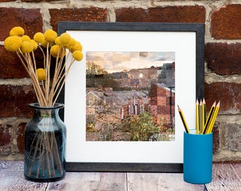 Sheffield Terraces Print - Terraced Houses Art - Sheffield Rooftops - Kate Cooper Photography