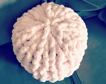 Chunky Knit chenille pillow