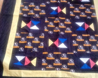Pittsburgh Steelers large lap sized quilt