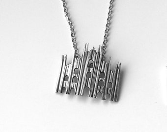 "DUOMO pendant of Milan in silver 925% handmade, Milan collection (""big"" version)"