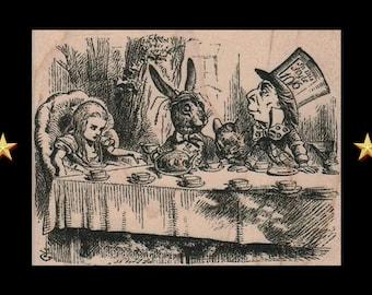 ALICE IN WONDERLAND Rubber Stamp, Madhatter Tea Party, Alice Gifts, Drink Me Rubber Stamp, Alice Stamp, Alice Gift, Alice Party, Mad Hatter