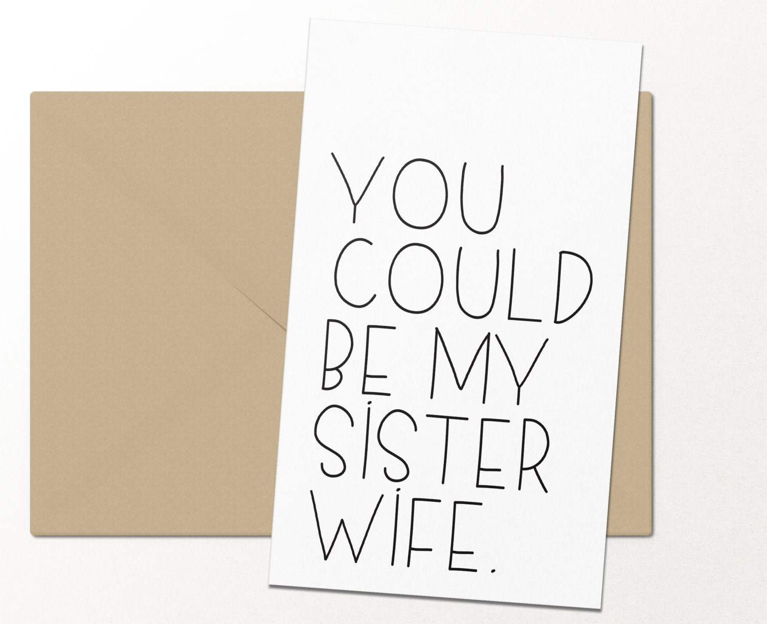 You could be my sister wife funny greeting card love zoom kristyandbryce Image collections