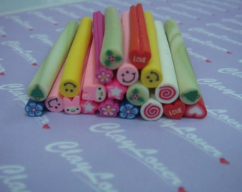 Assorted Polymer Clay Cane