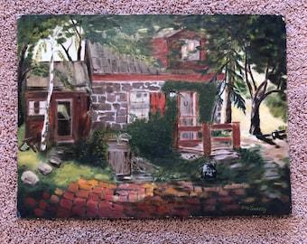 "Vintage Oil Painting on Canvas Panel - 18"" x 24"""