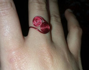 Wire spiral ring