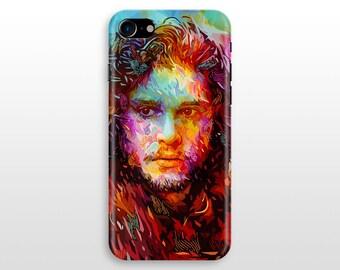 Colorful Jon Snow iPhone 7 case, iPhone 7 plus case, iPhone 6 case , iPhone 5 SE , Samsung Galaxy S6 case game of thrones stark
