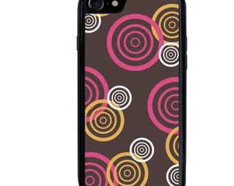 iPhone 5 5s 6 6s 6+ 6s+ SE 7 7+ iPod 5 6 Phone Case, Circle Swirls Design, Plus