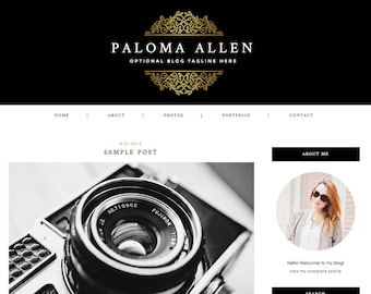 """Blogger Template, Blog Template - """"Paloma 