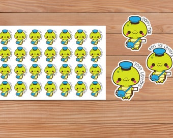 Mail Turtle - Happy Mail - Pen Pal - Happy Planner - Erin Condren - Planner - Sticker - Diary - Decorative