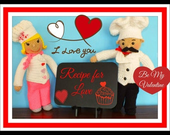 Chef Basil & Rosemary Crochet Dolls Pattern©