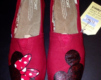 Disney Toms- Sparkly Mickey/Minnie