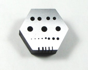 Solid steel Hexagonal riveting block 2 1/8 x 2 1/8 rivet making tool