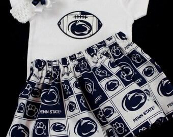 Penn State Nittany Lions Girls 3 piece Bodysuit set