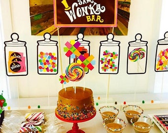 Willy Wonka Party Printables Deluxe - Set of 12 files