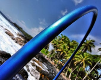 "5/8"" Deep Ocean Blue Color Shifting Polypro Hula Hoop with Custom Diameter & Grip Options!"