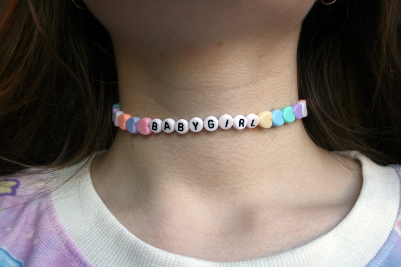 Babygirl Choker Necklace Pastel Kawaii Cyber Ghetto Cute
