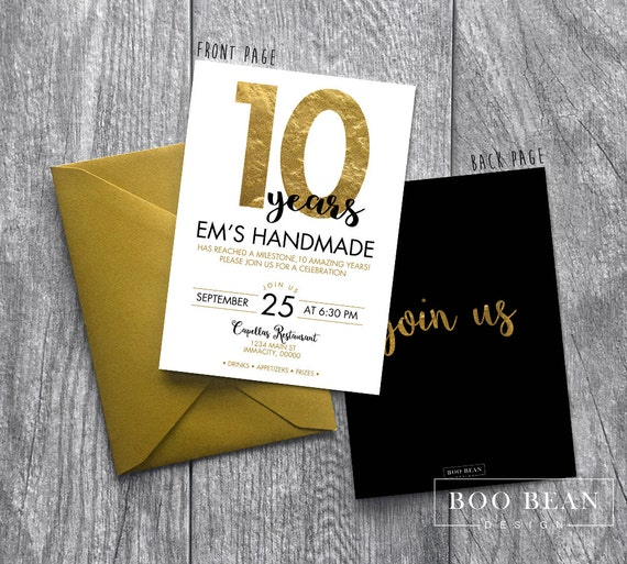 Business event invitation gold anniversary invitation work stopboris Images
