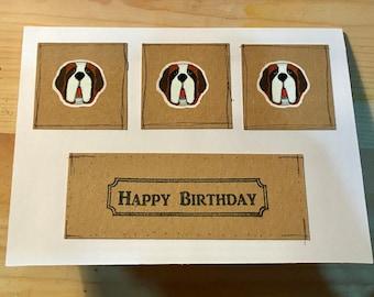 St. Bernard Birthday Card