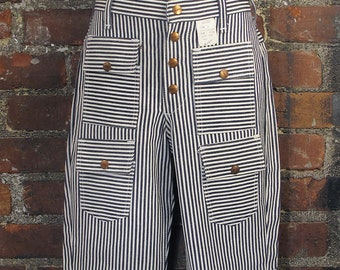 Deadstock Maverick 4 Front Pocket Striped Flare Pants