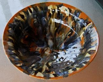 4 Quartets - handmade ceramic bowl, ceramic fruit bowl, handmade fruit bowl, pottery fruit bowl, medium bowl, interior decor, rustic, gift
