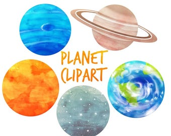 space clipart, Planets Clipart, Solar Syatem clipart, outer space clipart for personal and commercial use, scrapbooking, planner stickers