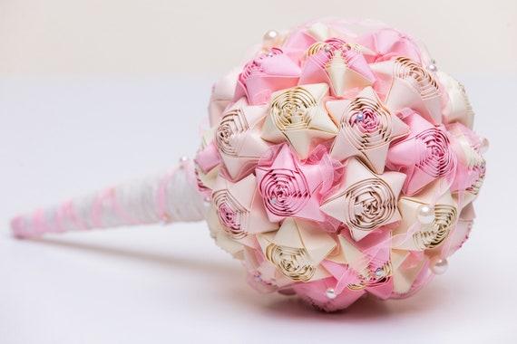 Flowerbox handmade pearls paper flowers alternative cream star flowerbox handmade pearls paper flowers alternative cream star wedding bouquet straw accessories cream origami bridal ice mightylinksfo